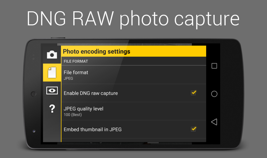 raw-capture-settings-device